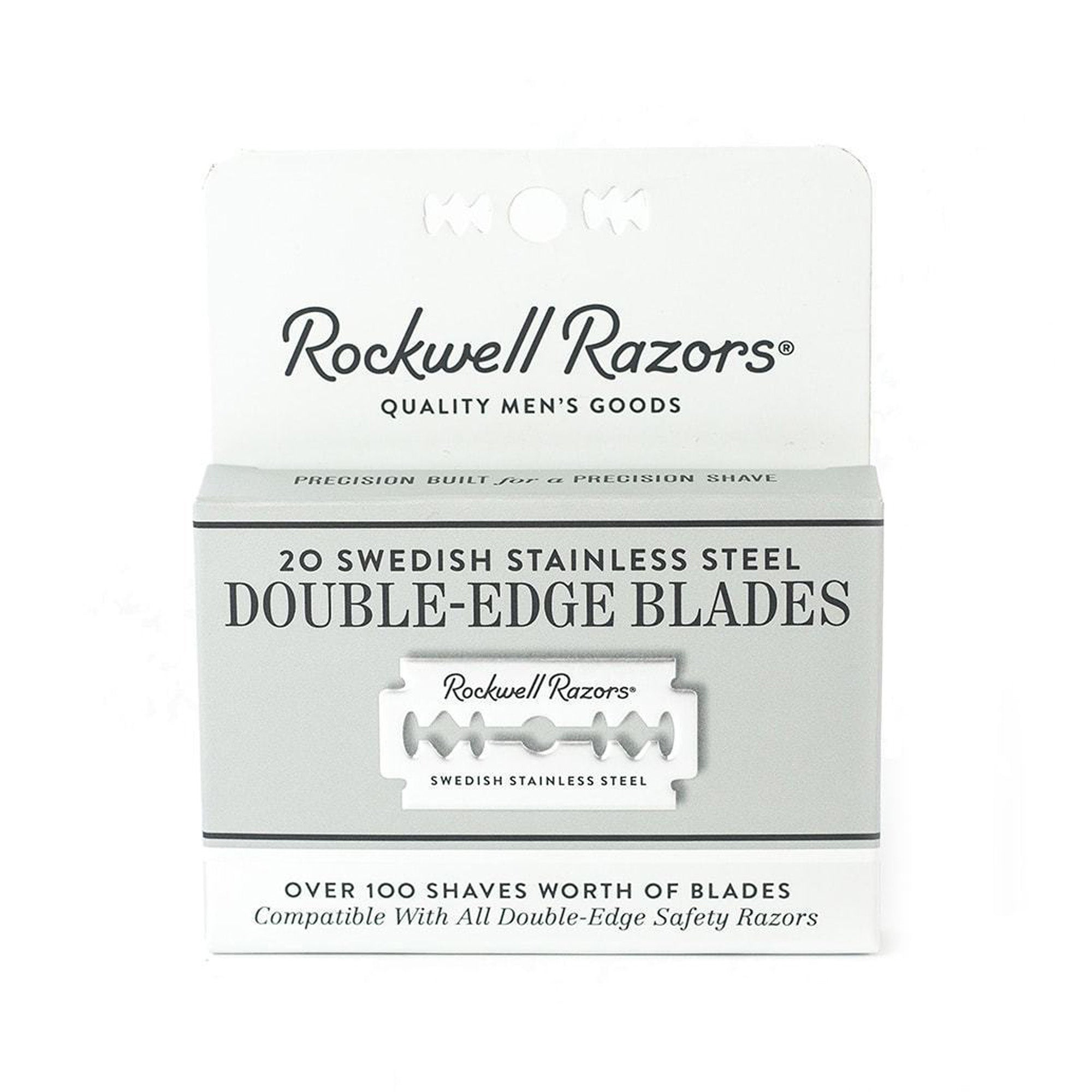 Rockwell Double Edge Safety Razor 20 Blade Pack