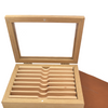 Thiers Issard Oak Box with Glass Window for Seven Razors