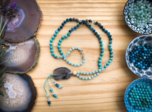 MANIFESTATION  |  Beautiful Handmade Diffuser Mala Bead Necklace