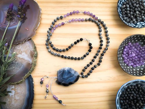 PROTECTION  |  Beautiful Handmade Diffuser Mala Bead Necklace