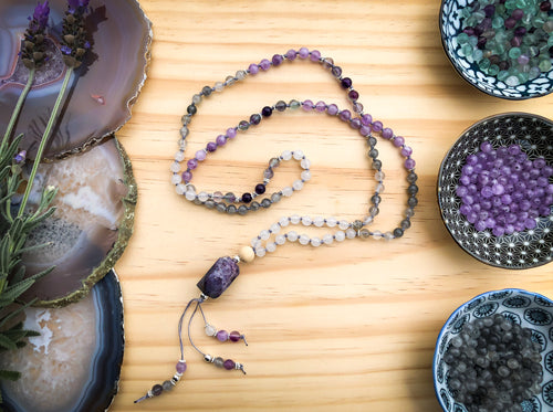 CLEANSING  |  Beautiful Handmade Diffuser Mala Bead Necklace