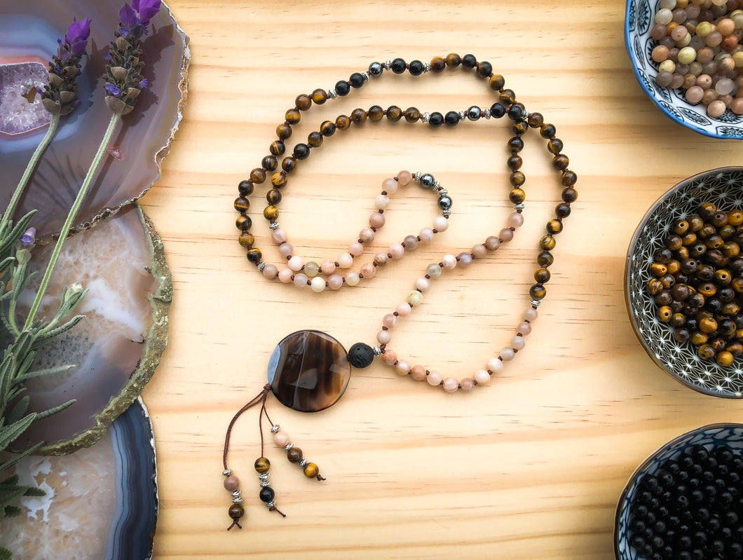 EMPOWERMENT  |  Beautiful Handmade Diffuser Mala Bead Necklace