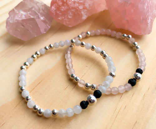 Mother's Day - Sterling Silver Morse Code Diffuser Bracelets