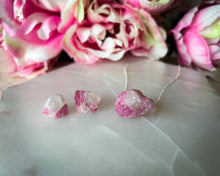 Pink Tourmaline Sterling Silver Gift Set | Aromatherapy Diffuser Necklace and Earrings