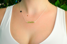 Peridot Sterling Silver Aromatherapy Diffuser Necklace