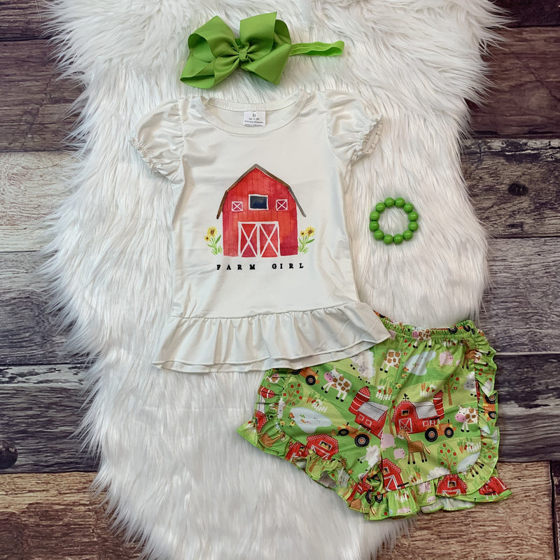 Farm Girl Ruffle Short Set