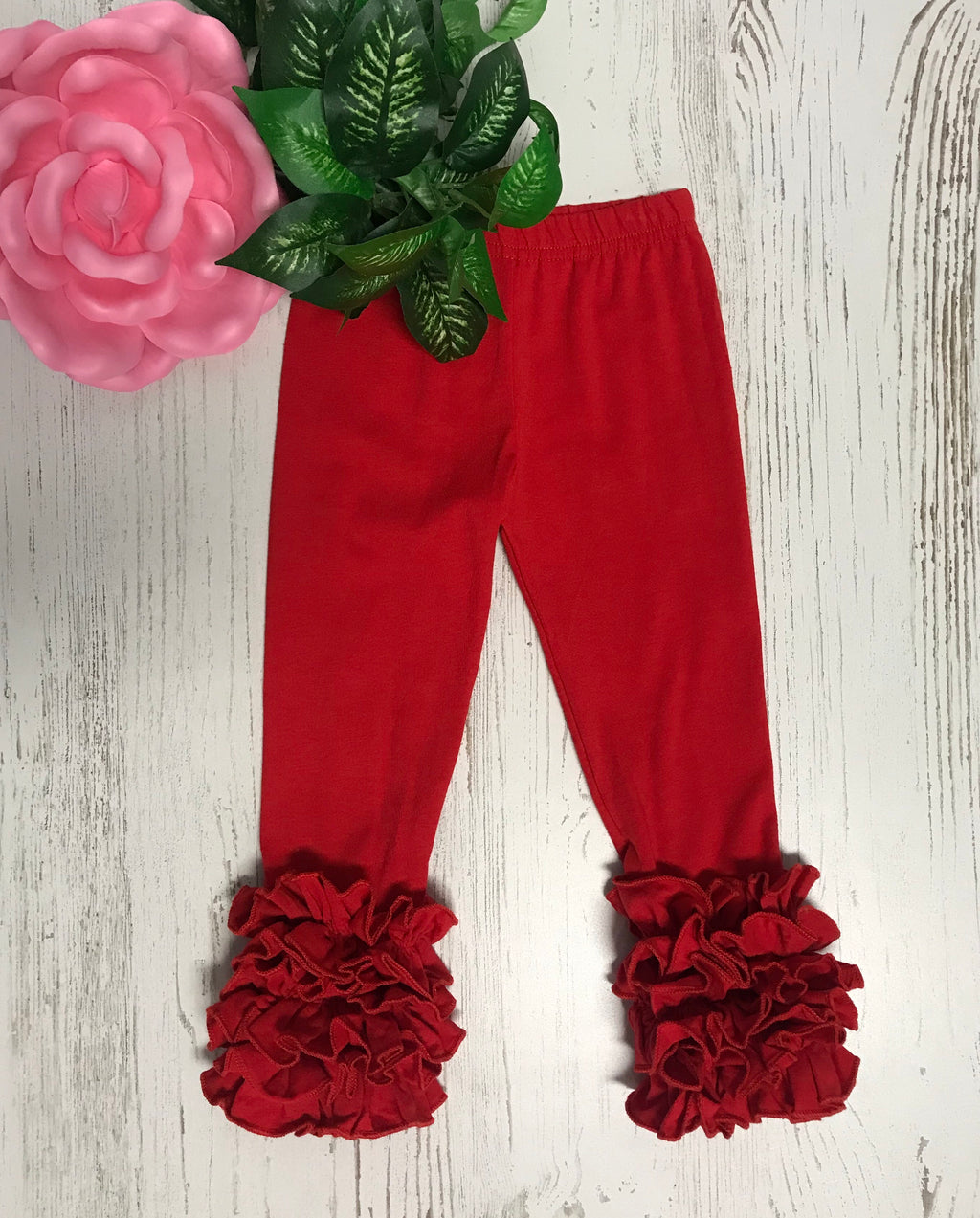 Red Icing Pants-Dazzled Babies Boutique