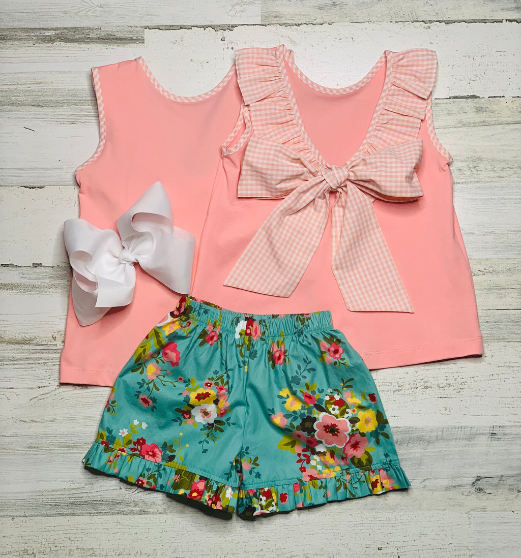 Three Sisters Vintage Garden Short Set-Short Set-Dazzled Babies Boutique