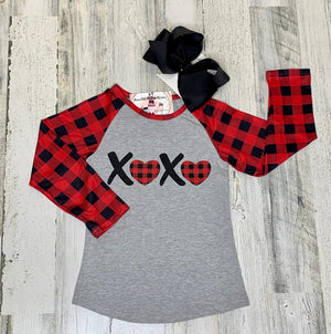 XoXo Raglan-Dazzled Babies Boutique