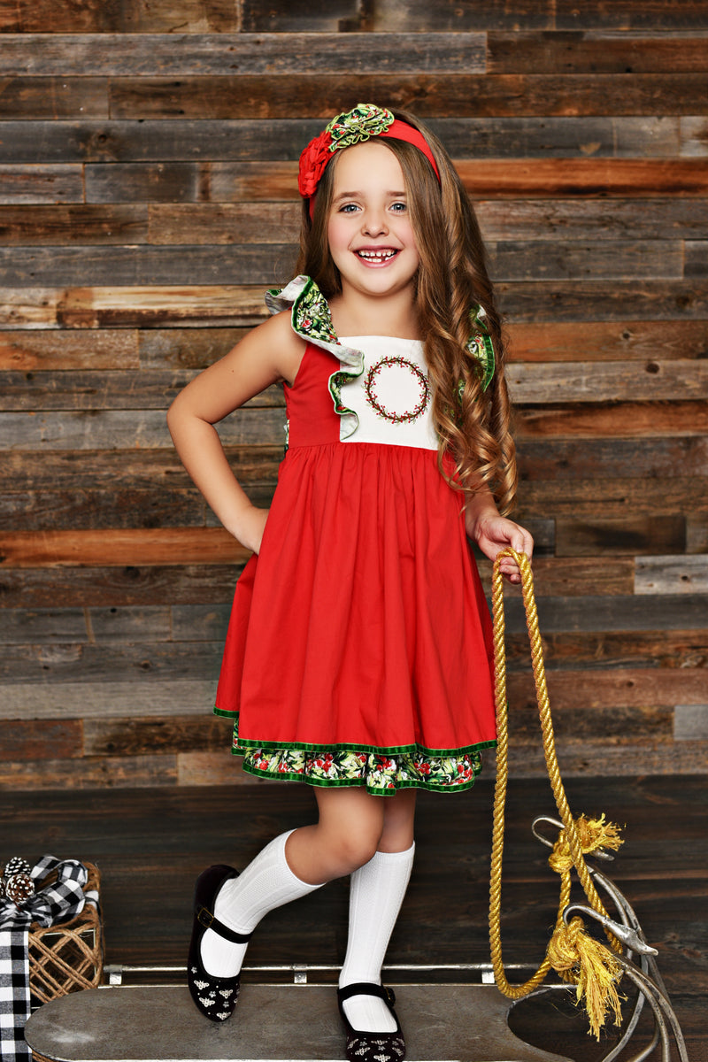 Winter Berry Pinafore Dress