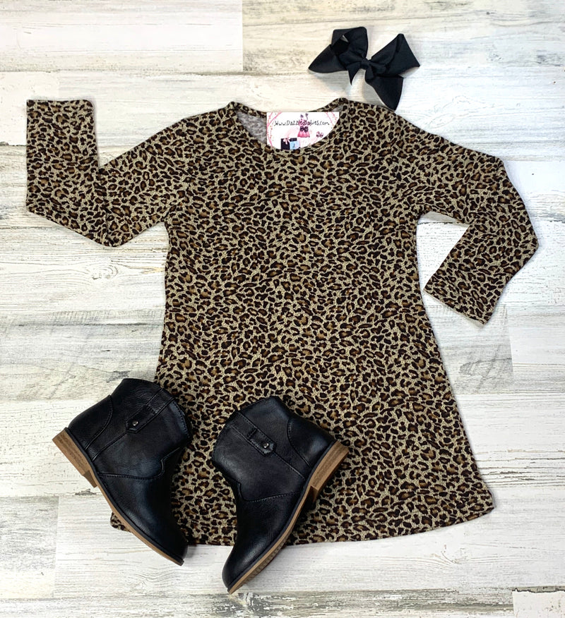 Leopard Fia Dress-Dazzled Babies Boutique