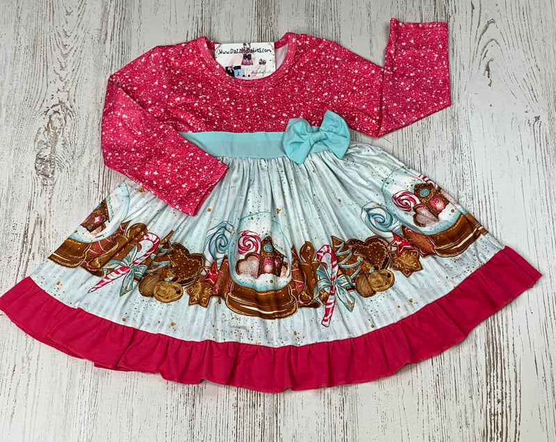 Glittering Gingerbread Bow Dress