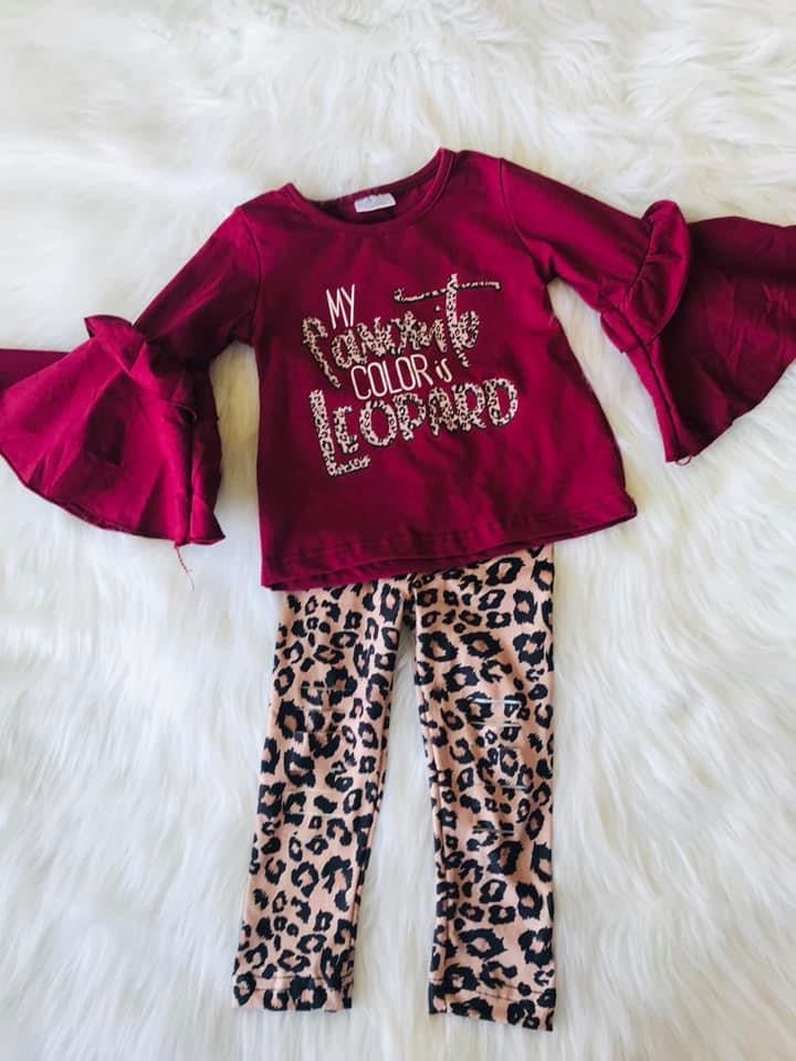 Leopard is my Fav Color Distressed Set-Dazzled Babies Boutique