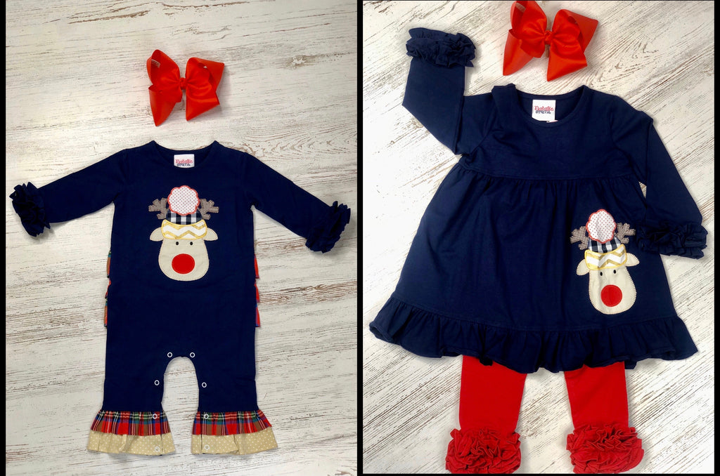 Plaid Reindeer Set
