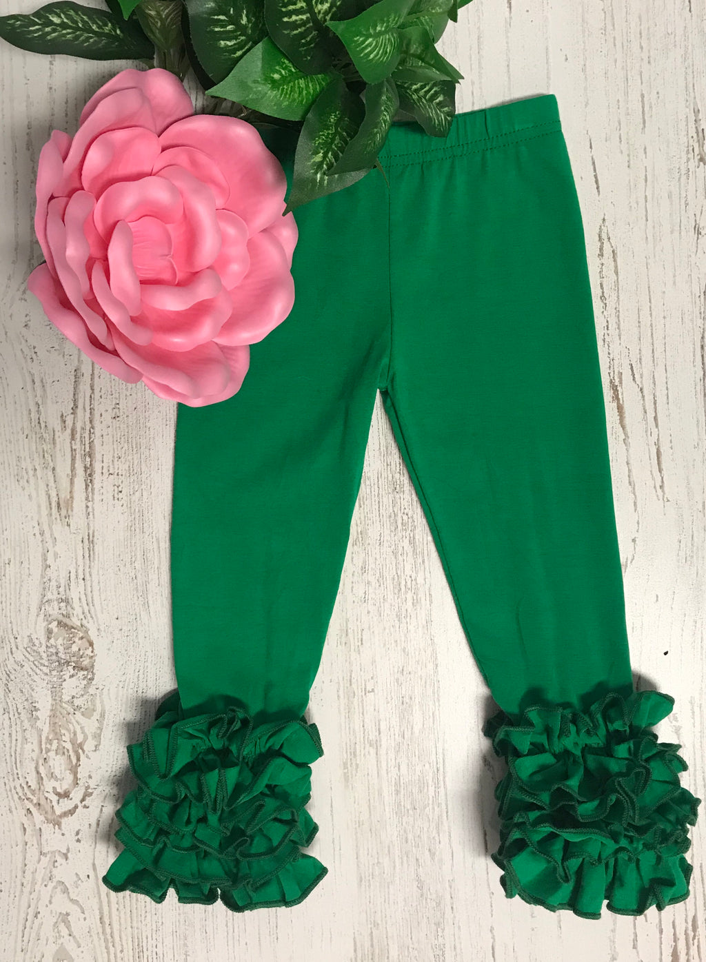 Green Icing Pants-Dazzled Babies Boutique