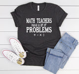 Math Teacher Problems