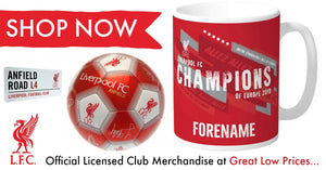 Liverpool F.C. Club Merchandise - SportsGiftsDirect.co.uk offers a wide range of Official Licensed Football merchandise at silly everyday low prices browse our range today