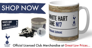 Tottenham Hotspur F.C. Official Football Gifts and Merchandise, All at Great Low Prices, We Aim to Dispatch All Orders Within 24hrs