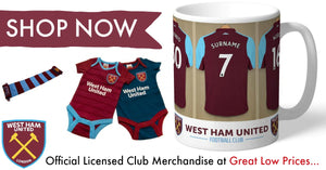 West Ham United F.C. - official licensed club merchandise at great low prices