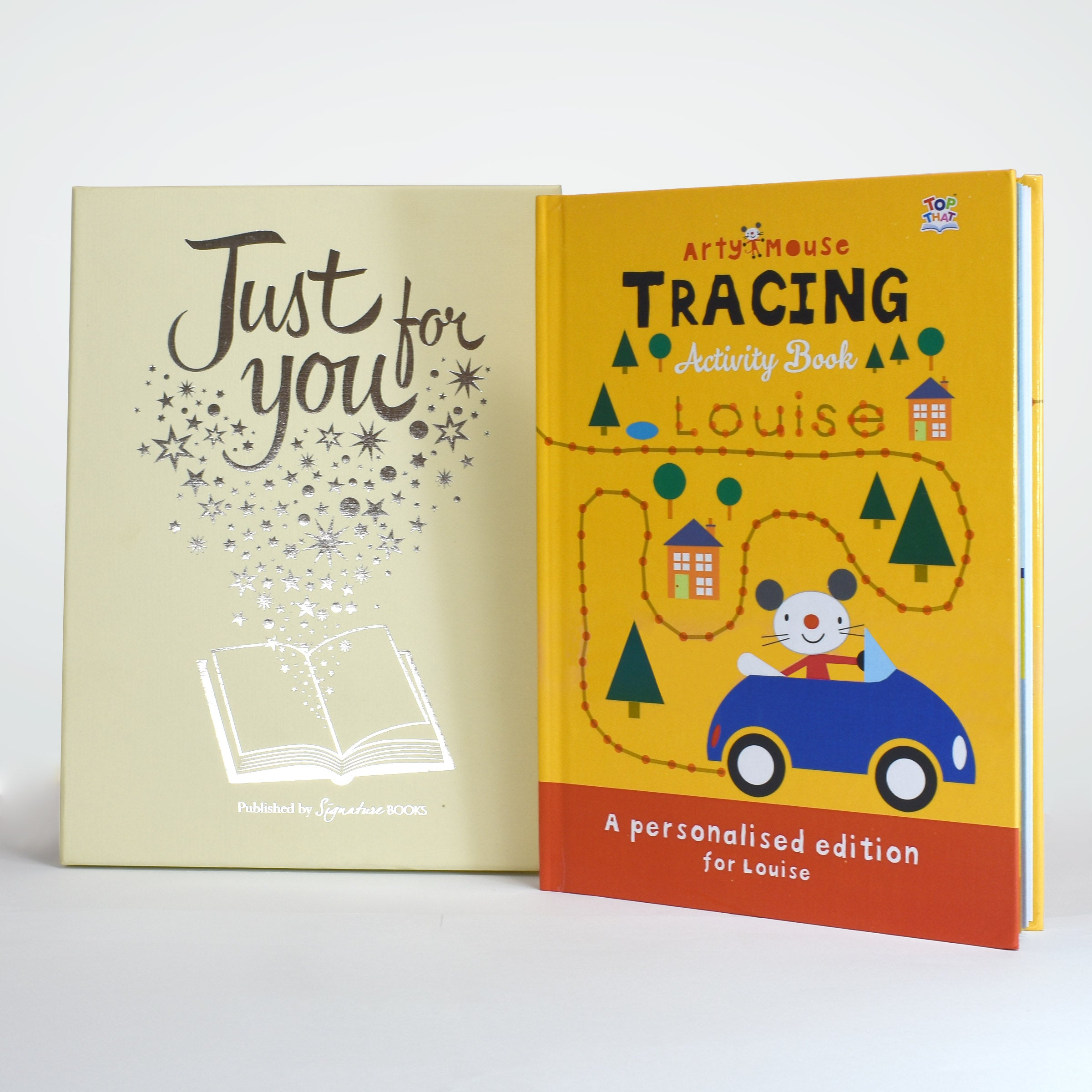 Personalised Arty Mouse Tracing Activity Book, Media by Sports Gifts Direct