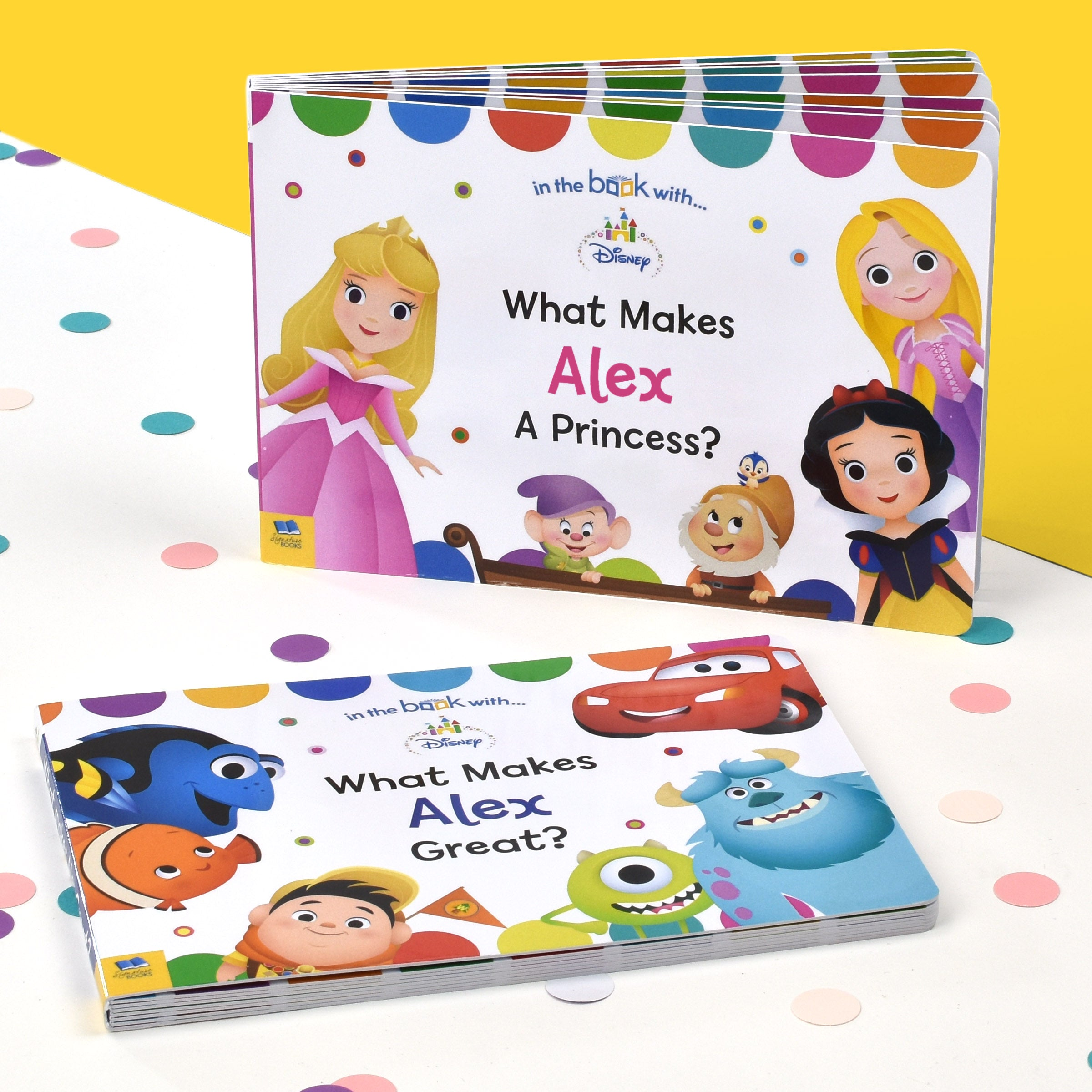 Personalised Dual Box-Set Disney Board Books, Scrapbooking & Stamping Kits by Sports Gifts Direct