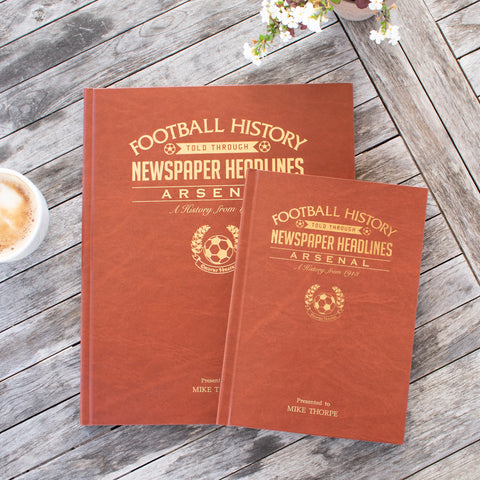 A4 Football Newspaper Book with Colour Pages