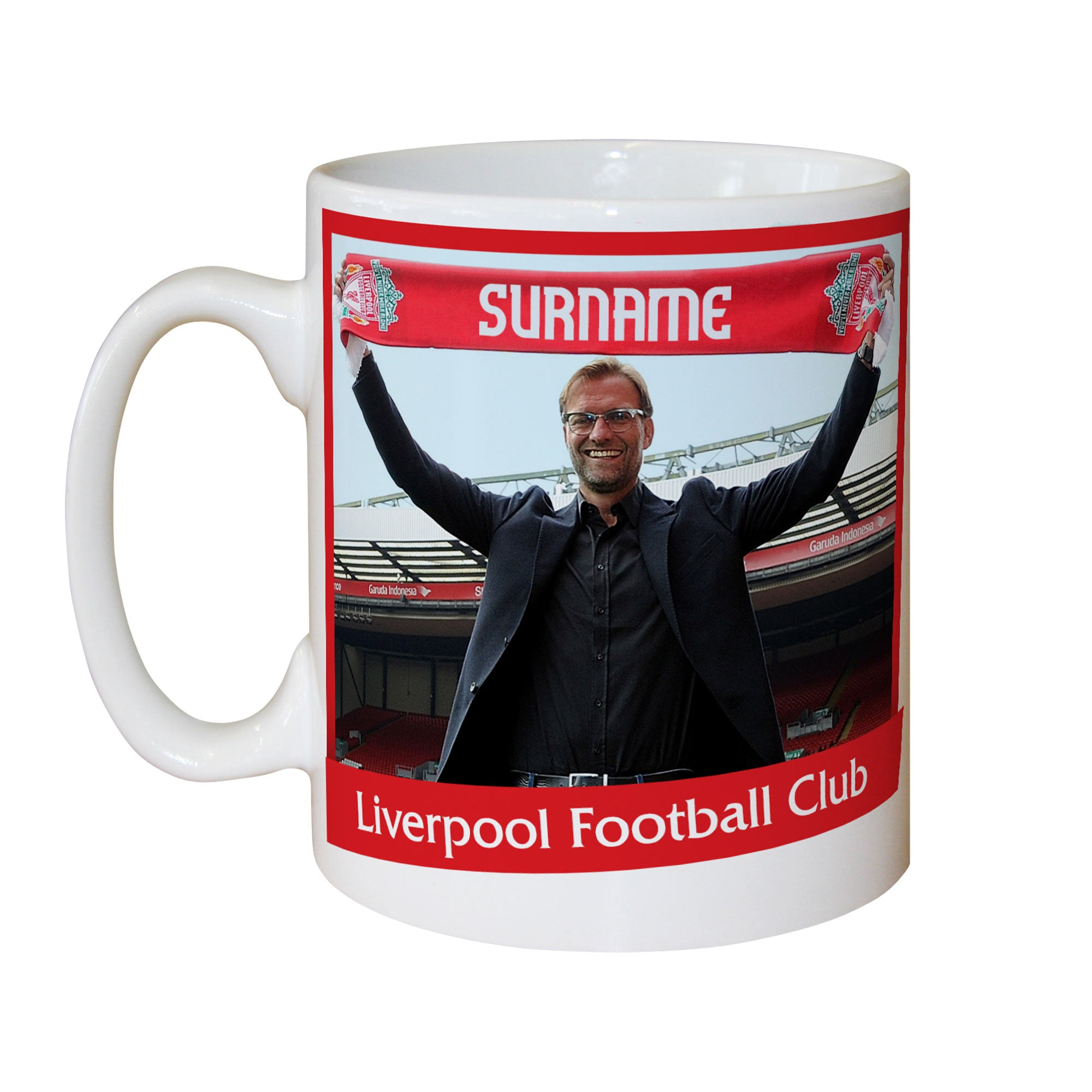 Personalised Liverpool FC Manager Mug, Kitchen & Dining by Sports Gifts Direct