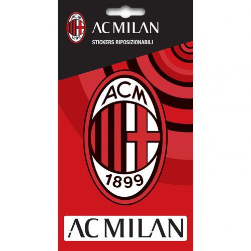 A.C. Milan Crest Sticker, Decorative Stickers by Sports Gifts Direct