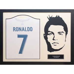 Real Madrid FC Ronaldo Signed Shirt Silhoutte | Real Madrid FC