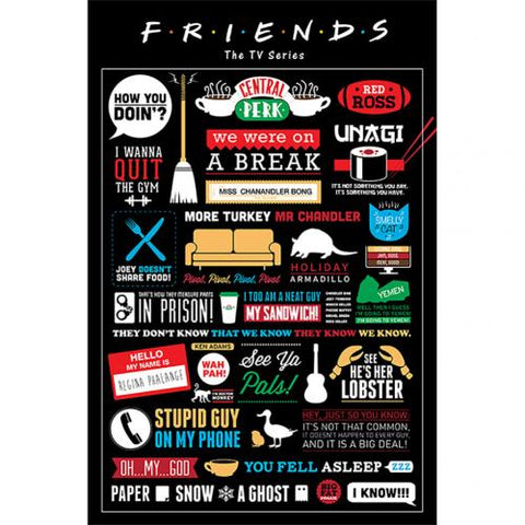 Friends Poster Inforgraphic 150 | Friends