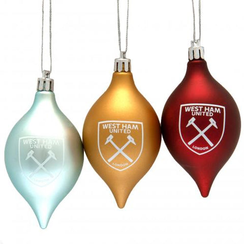 West Ham United FC 3pk Vintage Bauble | West Ham United FC