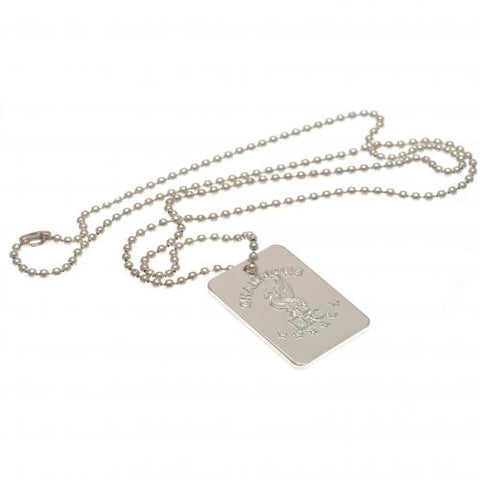 Liverpool FC Champions Of Europe Silver Plated Dog Tag & Chain | Liverpool FC