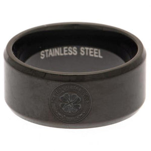 Celtic FC Black IP Plated Ring Medium | Celtic FC