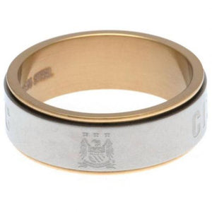 Manchester City FC Bi Colour Spinner Ring Large EC | Manchester City FC
