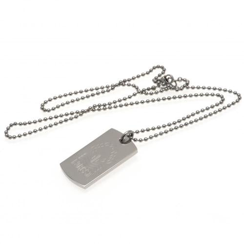 Nottingham Forest FC Engraved Dog Tag & Chain, Pet ID Tags by Sports Gifts Direct