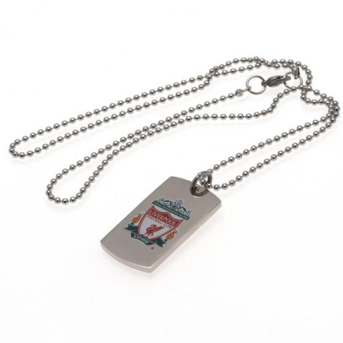 Liverpool FC Colour Crest Dog Tag & Chain, Pet ID Tags by Sports Gifts Direct