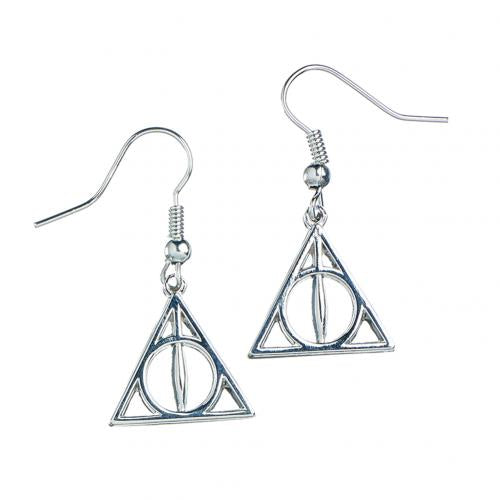 Harry Potter Silver Plated Earrings Deathly Hallow | Harry Potter