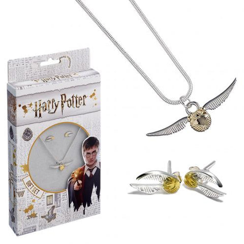 Harry Potter Silver Plated Necklace & Earring Set | SportsGiftsDirect.co.uk