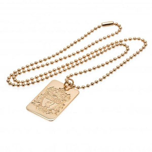 Liverpool FC Gold Plated Dog Tag & Chain | Liverpool FC