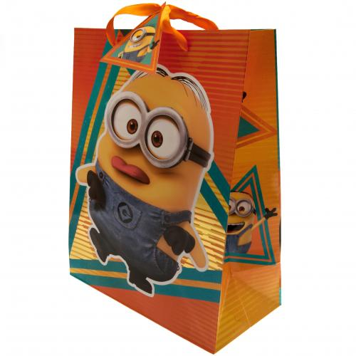 Despicable Me 3 Minion Gift Bag Medium, Gift Bags by Sports Gifts Direct