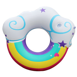 Sparkly Rainbow Cloud Ring Float