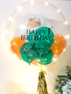 "24"" Custom Bubble Balloon with image"