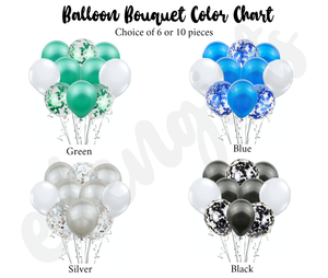 Confetti Helium Balloon Bouquet
