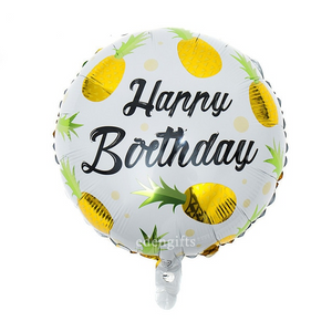 Happy Birthday Pineapple Foil Helium Balloon Set
