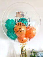 "24"" Custom Bubble Helium Balloon with Image"