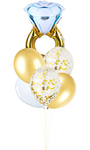 Diamond Ring Foil Helium Balloon Set
