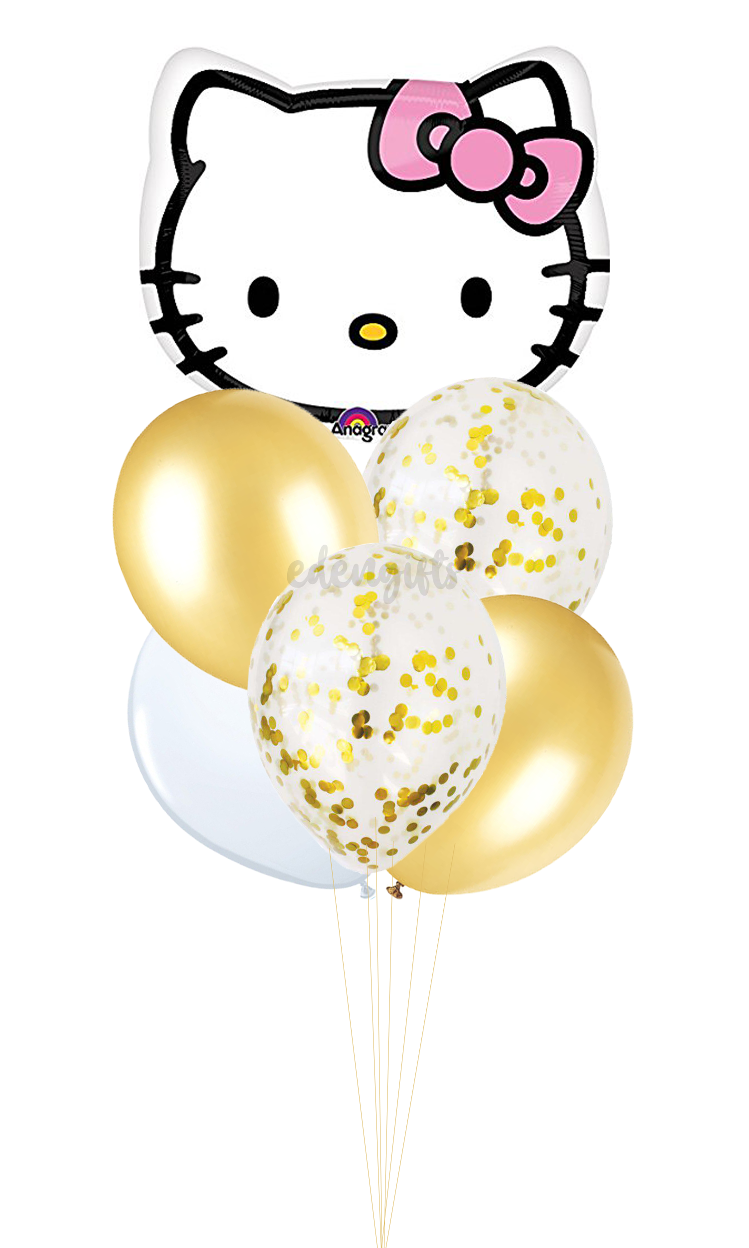 Hello Kitty Foil Helium Balloon Set