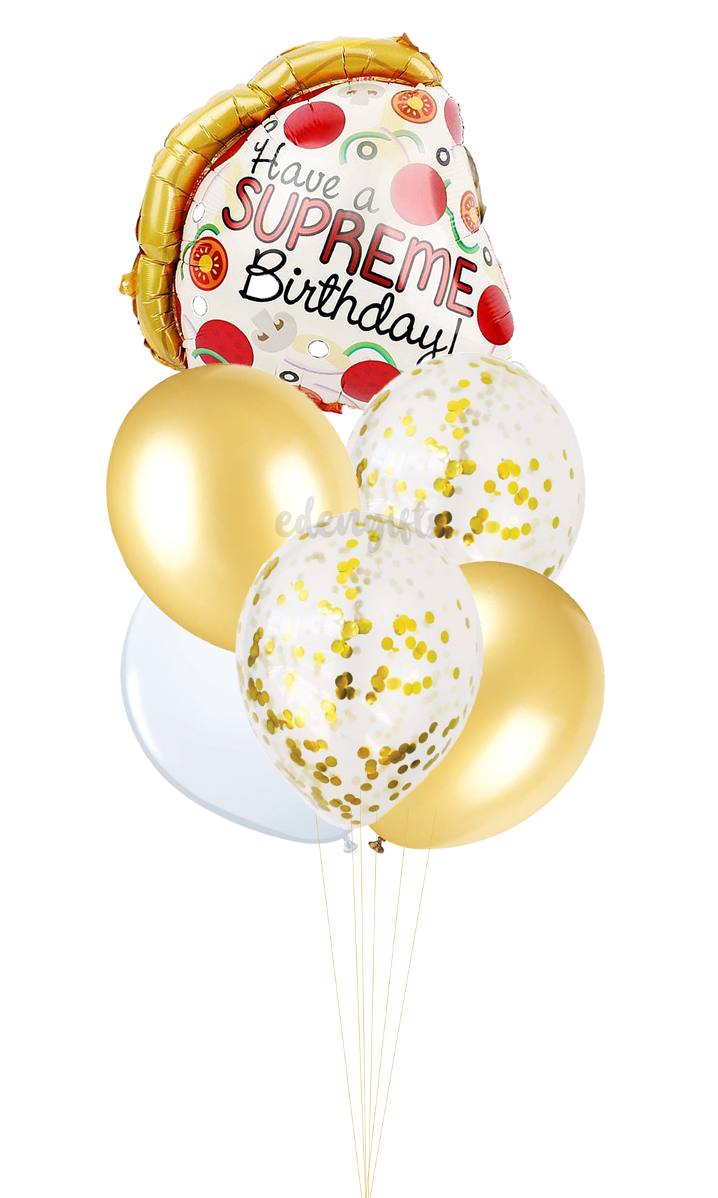 Pizza Foil Helium Balloon Set