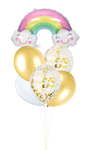 Smiley Rainbow Foil Helium Balloon Set