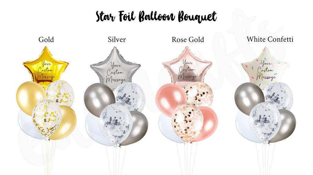 Star Foil Helium Side Balloon Bouquet